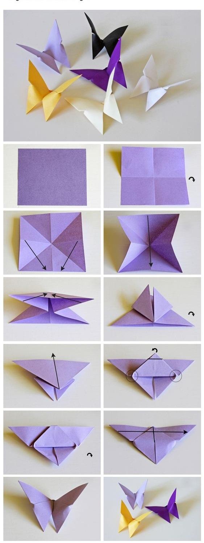 подробная схема оригами лилия
