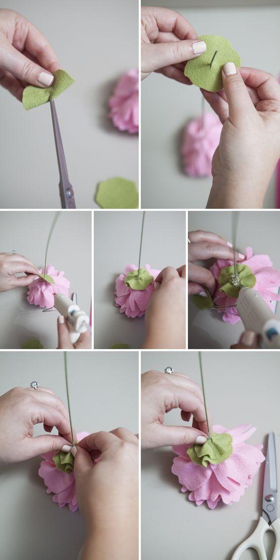 цветы из фетра своими руками пионы мастер-класс
