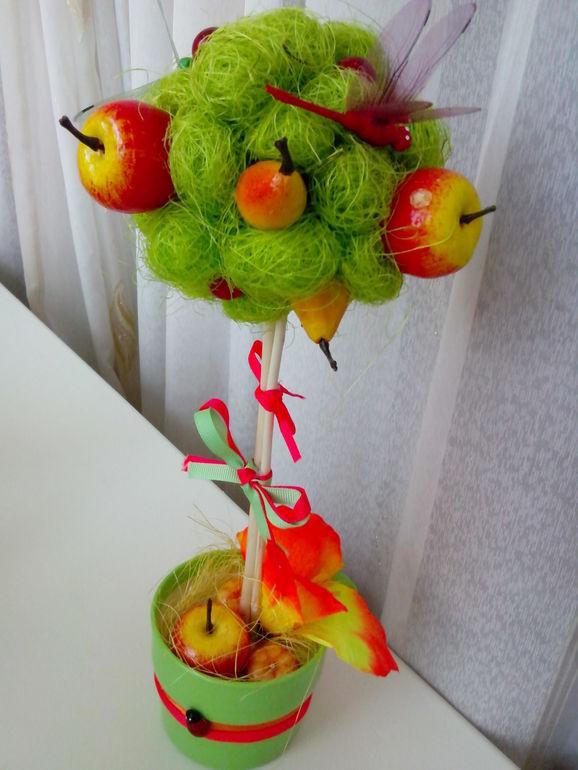 Поделка из сетки от фруктов 77