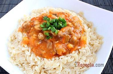 Как сделать подливу с мясом для риса