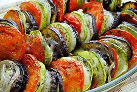 блюдо из кабачков и баклажанов в духовке