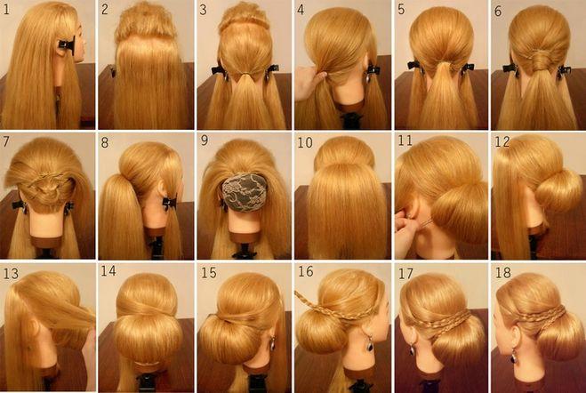 Прически с гребнями для волос пошагово фото