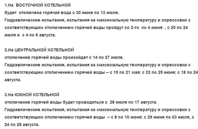 Мурманск  Отключение горячей воды в Мурманске летом 2014