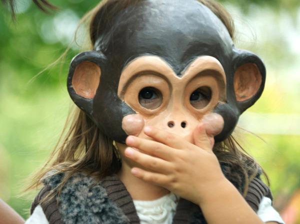 Фото маска обезьяны своими руками