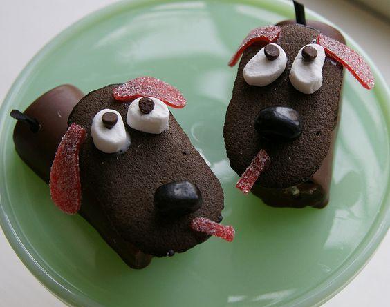 собака из сладостей своими руками