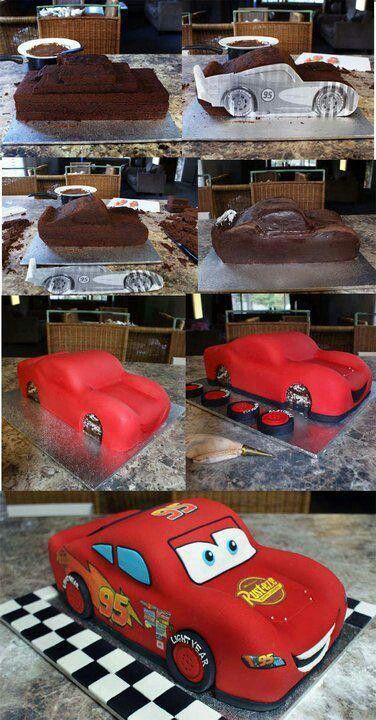 Торт в форме машины своими руками
