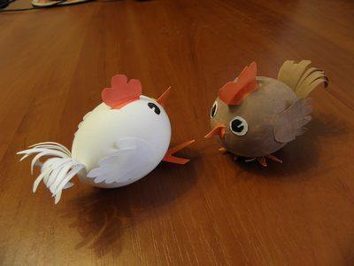 Поделки из яйца своими руками
