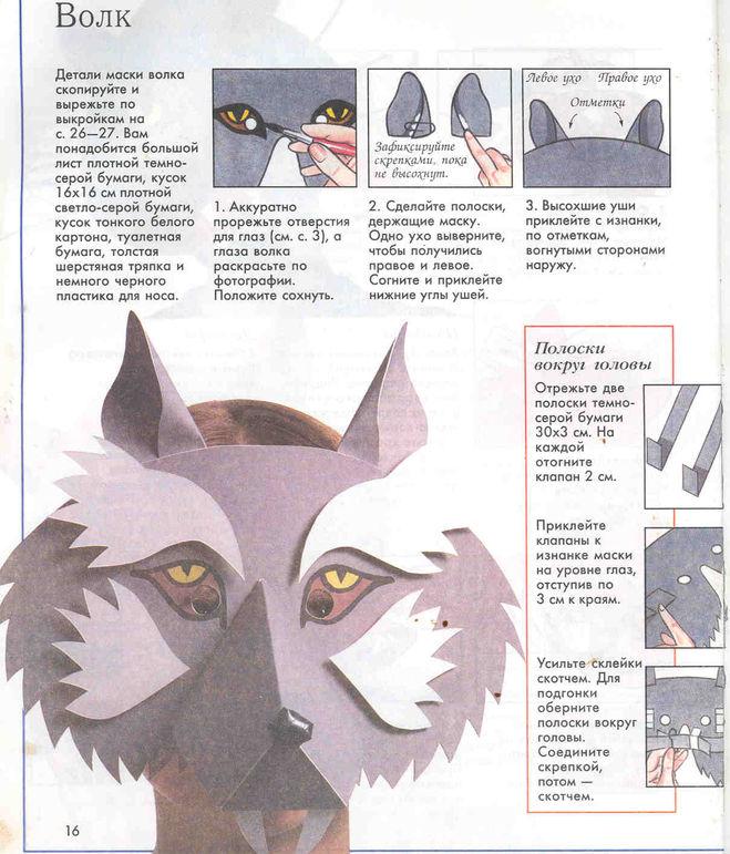 Как сделать маску шапку волка