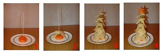 Как из сыра сделать ёлку из