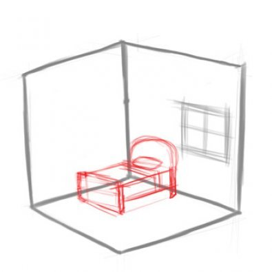 Как нарисовать комнату.