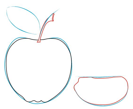 Тест яблоко поэтапно