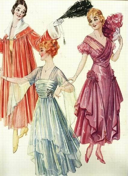 вечерние платья 1916