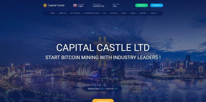 сайт capitalcastle.io низкодоходный долгосрочный хайп