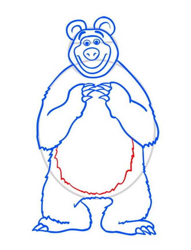 медведь нарисовать