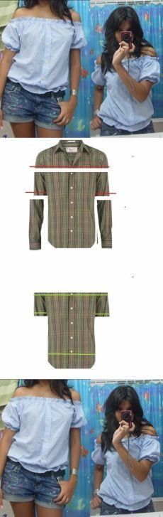 Туника для беременной из мужской рубашки