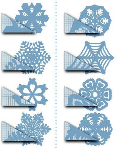 Снежинка из бумаги схема вырезания