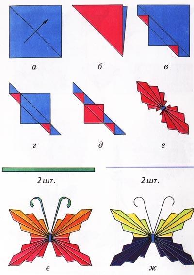 Из чего сделать бабочки 14