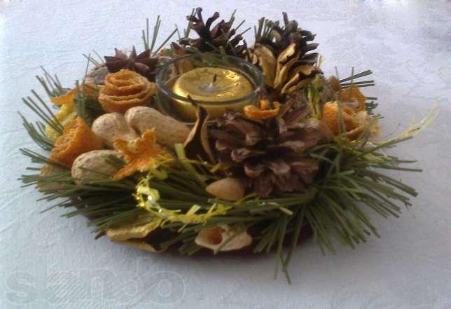 Новогоднее украшение во дворе своими руками