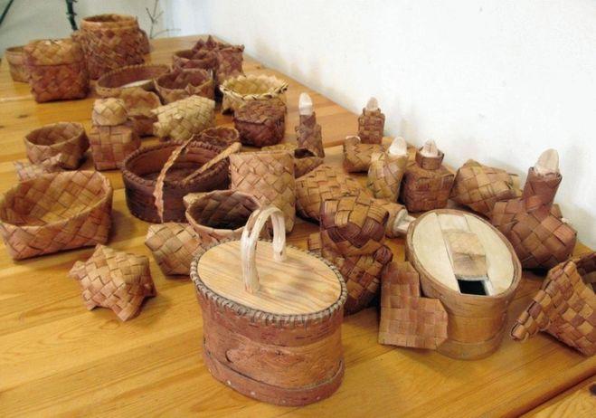изделия из бересты, купить в России оптом, сувенирная продукция из бересты, берестяные самоделки