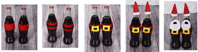 украшение бутылки на новый год своими руками из фетра