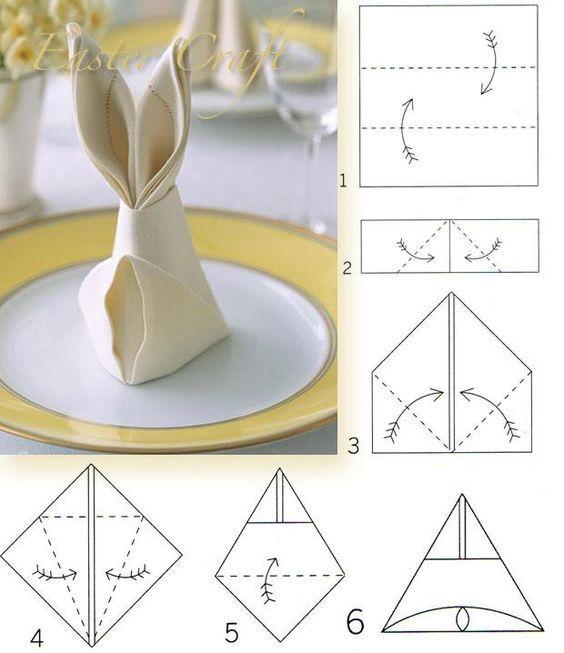 Как сделать из салфеток кролика