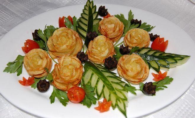 как подать красиво на праздничный стол картошку