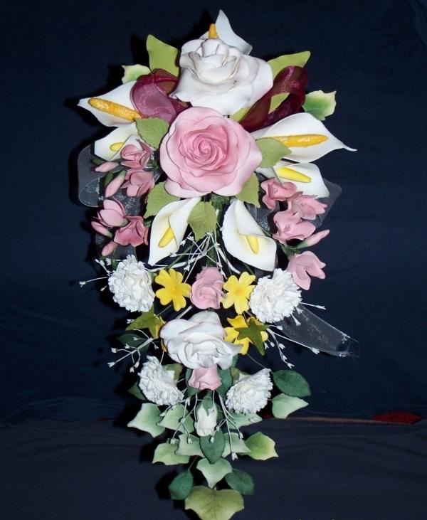 Как сделать букет из цветов своими руками 91