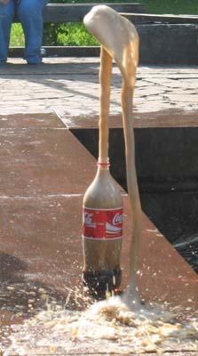 Как сделать фонтан из газировки и