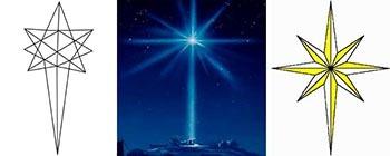 Рождественская звезда распечатать