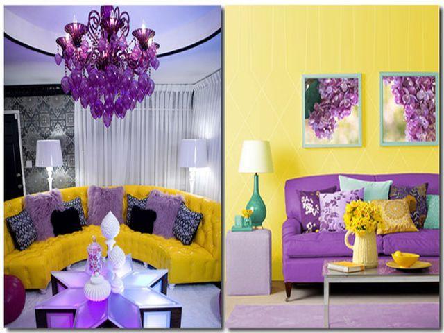 Лиловый цвет сочетание с другими цветами в интерьере