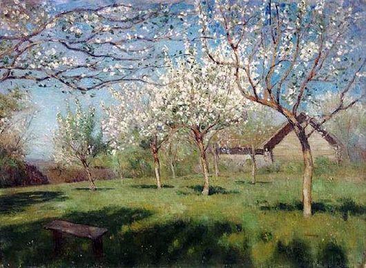 """сочинение по картине Левитана """"Цветущие яблони"""""""