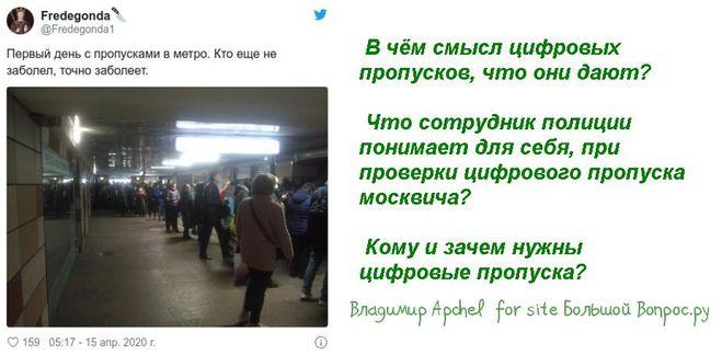 В чём смысл цифровых пропусков, что они дают?   Что сотрудник полиции понимает для себя, при проверки цифрового пропуска москвича?   Кому и зачем нужны цифровые пропуска?