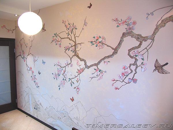 Как нарисовать карандашом поэтапно дерево сакура