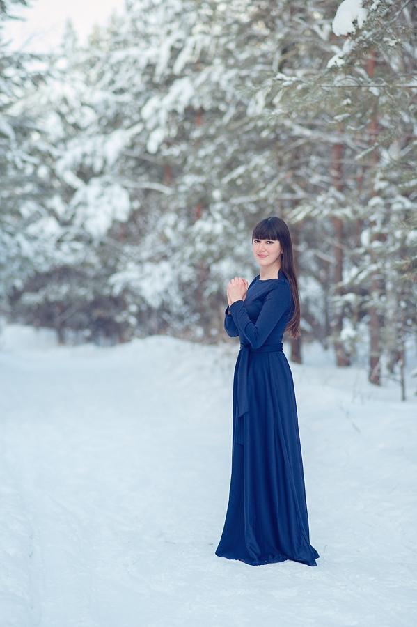 Красивые фото девушке в длинных платьях