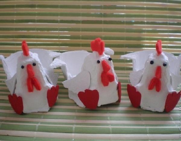 Поделки из бумажного контейнера для яиц 51