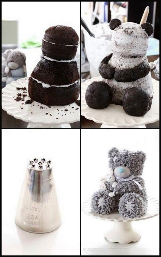 Торт в виде медведя