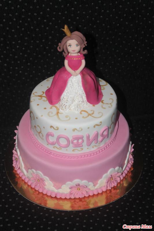 Торт для принцессы из мастики