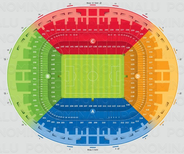 места на стадионе бса лужники