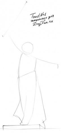 Как поэтапно нарисовать памятник <strong>нарисовать</strong> родина мать