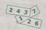 Сумма цифр на трех карточках равна 826. Чему равна сумма закрытых цифр(см)?
