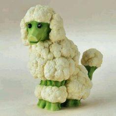 Собака из овощей