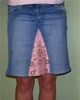 Юбки годе из джинсы