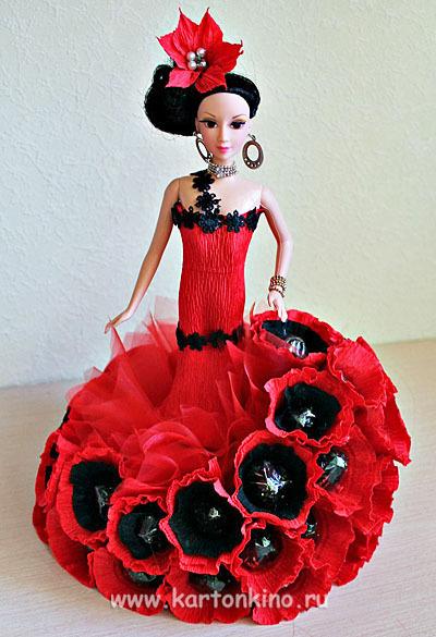 Кукла с зонтиком своими руками