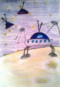Рисунки для 1 класса луноходы