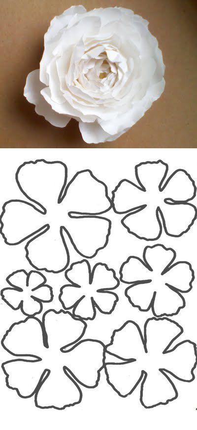 шаблоны для создания цветов своими руками