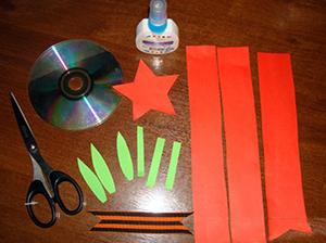 поделки с компакт-диском на 9 мая с детьми мастер-класс