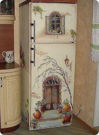 Роспись на холодильнике