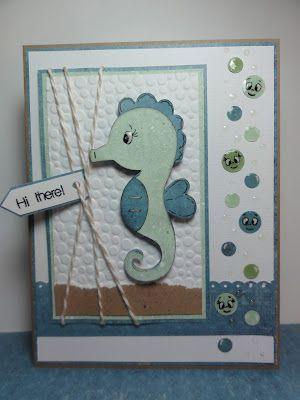 открытка с морским коньком