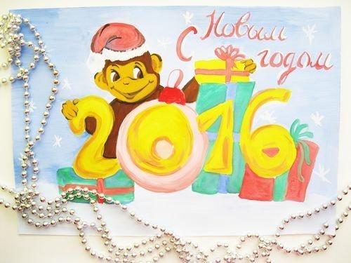 Обезьянка своими руками на новый год рисунки