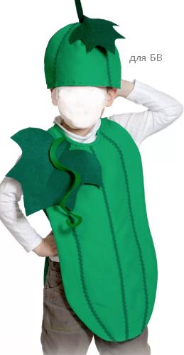как сделать костюм огурца